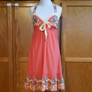 Adorable coral sundress
